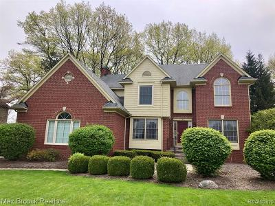 Oakland County Single Family Home For Sale: 3329 Long Meadow Court