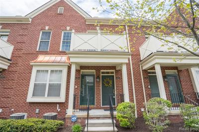 South Lyon Condo/Townhouse For Sale: 1027 Fountain View Circle