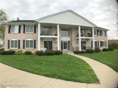 Sterling Heights Condo/Townhouse For Sale: 13900 Camelot Drive #5