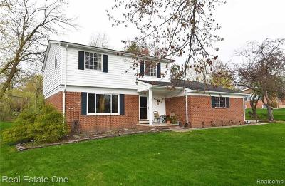 Rochester, Rochester Hills Single Family Home For Sale: 1043 Dolliver Drive