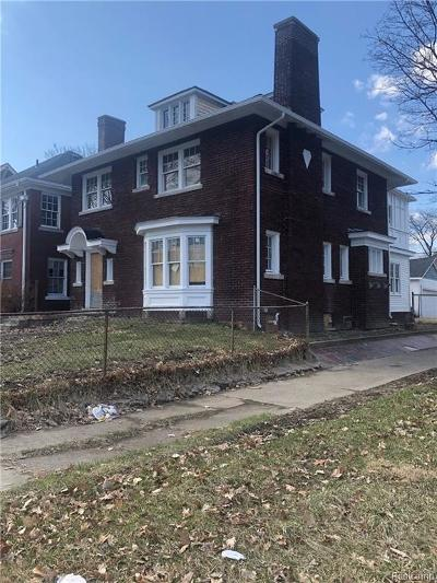Detroit Single Family Home For Sale: 1604 Longfellow Street