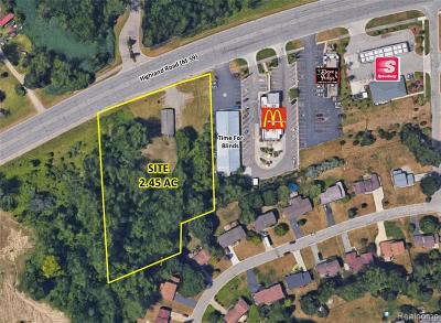 Oakland County Commercial For Sale: 9669 Highland Road