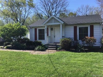 Clawson Single Family Home For Sale: 420 Hendrickson Boulevard