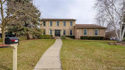 Farmington Hills Single Family Home For Sale: 37700 Stableview Drive