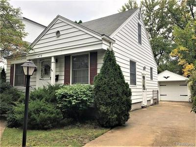 Birmingham Single Family Home For Sale: 479 Bird Avenue