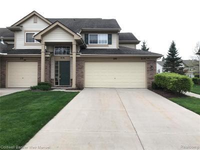 Auburn Hills Condo/Townhouse For Sale: 216 N Vista