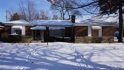 Detroit Single Family Home For Sale: 11700 Whitehill Street