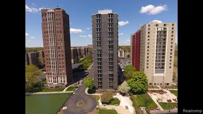 Detroit Condo/Townhouse For Sale: 8200 E Jefferson Avenue #1507
