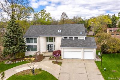 Bloomfield, Bloomfield Hills, Bloomfield Twp, West Bloomfield, West Bloomfield Twp Single Family Home For Sale: 2998 Chambord Drive