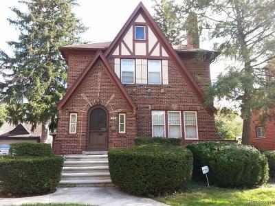 Detroit Single Family Home For Sale: 15470 Piedmont Street