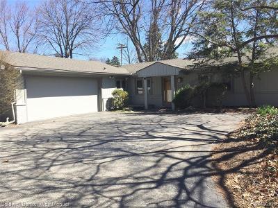 Bloomfield, Bloomfield Hills, Bloomfield Twp, West Bloomfield, West Bloomfield Twp Single Family Home For Sale: 6973 Lahser Road