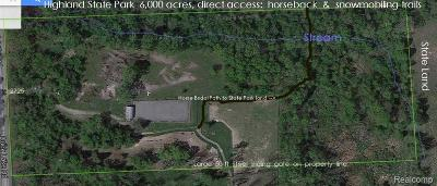 Highland Twp Residential Lots & Land For Sale: 2725 S Duck Lake Road