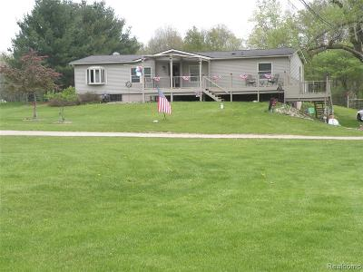 Brandon Twp Single Family Home For Sale: 3650 Perry Lake Road