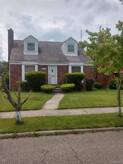 Detroit Single Family Home For Sale: 19433 Tracey Street