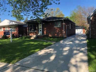 Dearborn Heights Single Family Home For Sale: 5729 Mayburn Street
