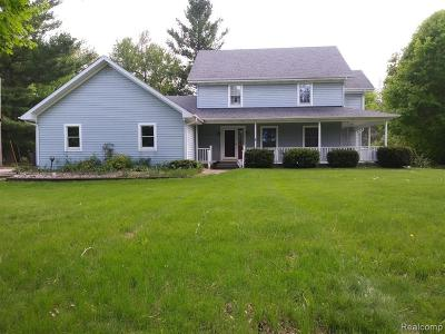 Genesee Twp Single Family Home For Sale: 6272 Lucas Road