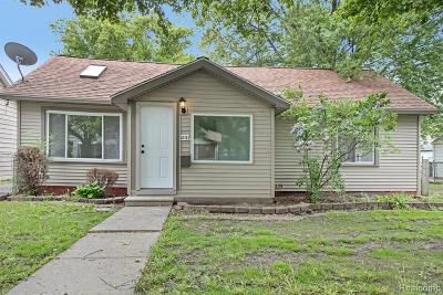 Lincoln Park Single Family Home For Sale: 1857 Oconnor Avenue