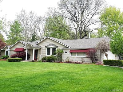 Bloomfield Twp MI Single Family Home For Sale: $629,900