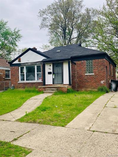 Detroit Single Family Home For Sale: 19914 Asbury Park