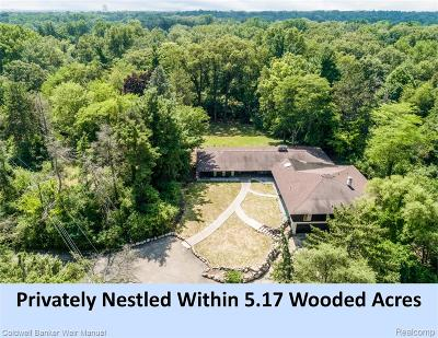 Bloomfield Single Family Home For Sale: 7466 Wing Lake Road
