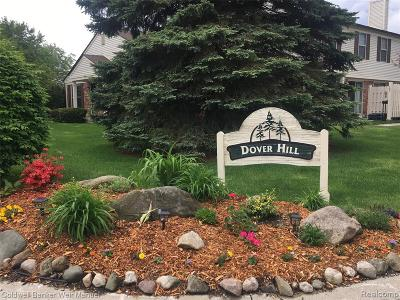 Walled Lake Condo/Townhouse For Sale: 1537 Dover Hill N