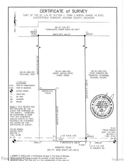 Chesterfield Twp Residential Lots & Land For Sale: 37251 Hobarth Road