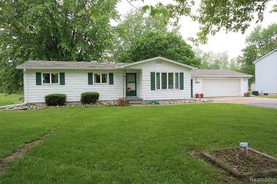 Single Family Home For Sale: 3380 Seymour Road