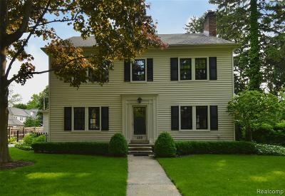 Grosse Pointe Single Family Home For Sale: 488 University Pl