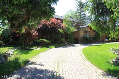 West Bloomfield Twp Single Family Home For Sale: 5549 Perrytown Drive