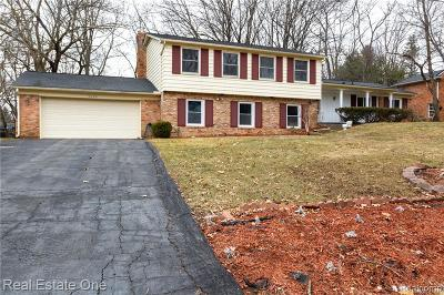 Bloomfield Twp Single Family Home For Sale: 5200 Van Ness Drive