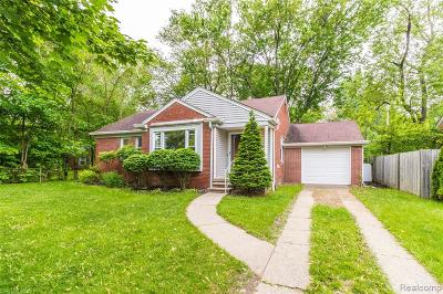 Birmingham, Bloomfield Hills Single Family Home For Sale: 1186 S Eton Street