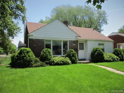 Allen Park Single Family Home For Sale: 8209 Park Avenue