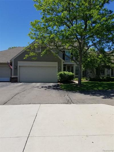 Bloomfield Twp MI Condo/Townhouse For Sale: $349,900
