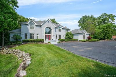 Bloomfield Twp Single Family Home For Sale: 7515 Hiddenbrook Lane