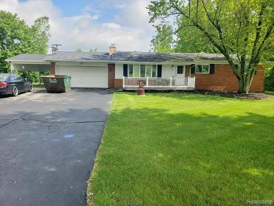 Single Family Home For Sale: 5652 Genesee Road