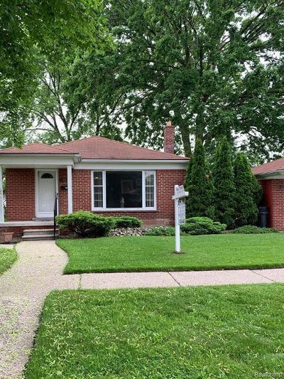 Allen Park Single Family Home For Sale: 14917 Englewood Avenue