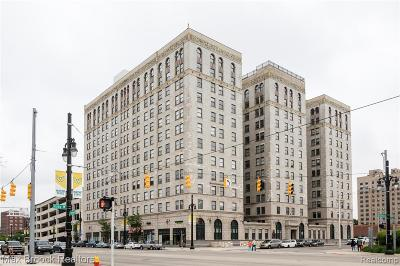 Detroit Condo/Townhouse For Sale: 15 E Kirby Street #1104