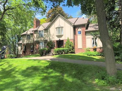 Bloomfield Hills Single Family Home For Sale: 2952 Quarton Road