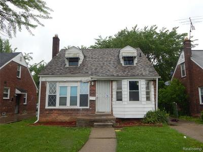Detroit Single Family Home For Sale: 16261 Edmore Drive