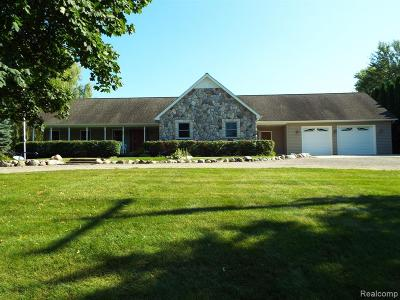 Milford Twp Single Family Home For Sale: 887 W Maple Road