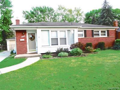 Livonia, Farmington, Farmington Hills, Northville Twp, Novi Single Family Home For Sale: 34921 Parkdale Street