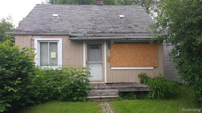 Hazel Park Single Family Home For Sale: 351 E Milton Avenue