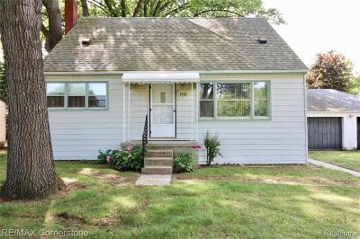 Garden City, Westland, Plymouth Twp, Canton Twp Single Family Home For Sale: 1751 N Berry Street