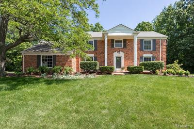 West Bloomfield Twp Single Family Home For Sale: 5803 Red Coat Lane