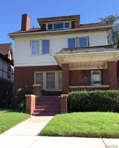 Detroit Single Family Home For Sale: 11862 Wisconsin Street