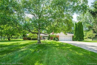Rochester Hills Single Family Home For Sale: 1744 Crooks Road