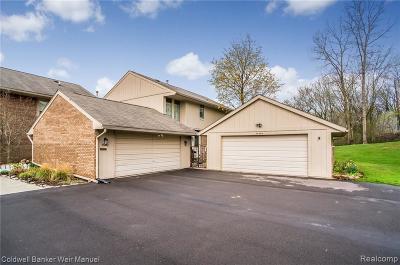 Farmington, Farmington Hills Condo/Townhouse For Sale: 35496 Heritage Ln #54