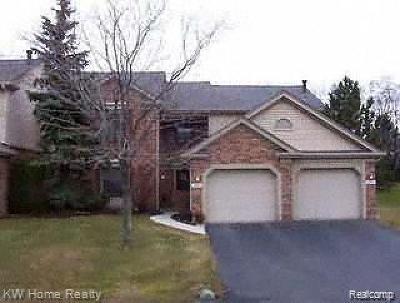 Farmington Hills Condo/Townhouse For Sale: 36913 Ridgedale Court