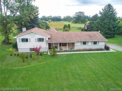 Oakland County Single Family Home For Sale: 8950 Hickory Ridge Road