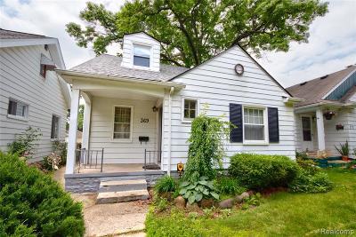 Ferndale Single Family Home For Sale: 369 W Webster Street
